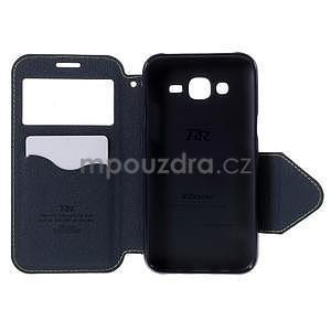 PU kožené pouzdro s okýnkem pro Samsung Galaxy J5 - zelené - 4
