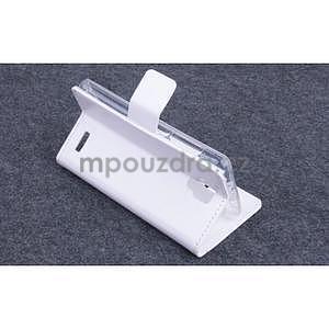 Koženkové pouzdro na mobil Lenovo A536 - bílé - 4