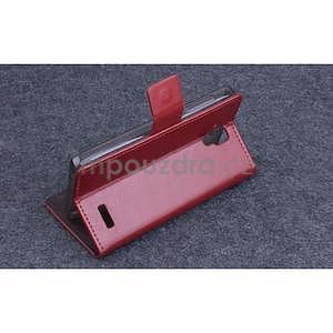 Koženkové pouzdro na mobil Lenovo A536 - hnědé - 4