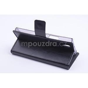 Peněženkové PU kožené pouzdro na Lenovo P70 - černé - 4