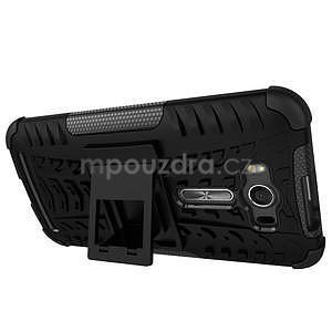 Outdoor odolný kryt se stojánkem na Asus Zenfone 2 Laser ZE500KL - černý - 4