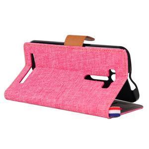 Jeans pouzdro na mobil Asus Zenfone 2 Laser - růžové - 4