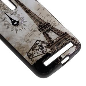 Gelový obal s koženkovými zády na Asus Zenfone 2 Laser - Eiffelova věž - 4