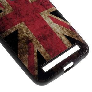 Gelový obal s koženkovými zády na Asus Zenfone 2 Laser - UK vlajka - 4