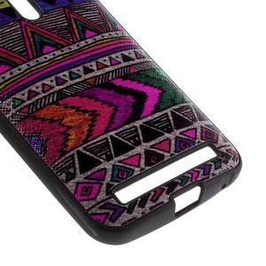 Gelový obal s koženkovými zády na Asus Zenfone 2 Laser - tribal - 4