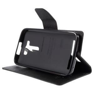 Diary stylové pouzdro na Asus Zenfone 2 Laser - černé - 4