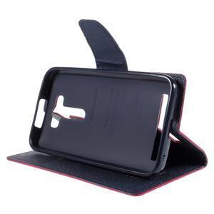Diary stylové pouzdro na Asus Zenfone 2 Laser - rose - 4