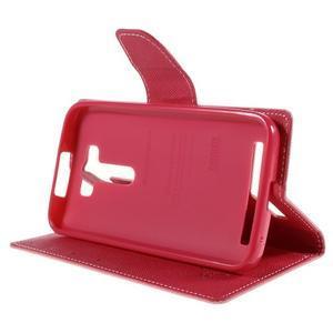Diary stylové pouzdro na Asus Zenfone 2 Laser - růžové - 4