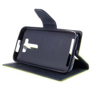 Diary stylové pouzdro na Asus Zenfone 2 Laser - zelené - 4