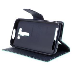 Diary stylové pouzdro na Asus Zenfone 2 Laser - azurové - 4