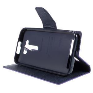 Diary stylové pouzdro na Asus Zenfone 2 Laser - fialové - 4