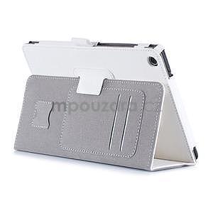 Polohovatelné koženkové pouzdro na tablet Asus ZenPad S 8.0 - bílé - 4
