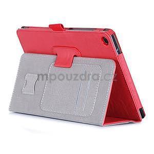 Polohovatelné koženkové pouzdro na tablet Asus ZenPad S 8.0 - červené - 4