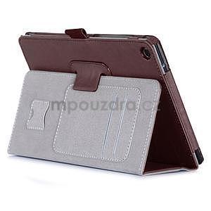 Polohovatelné koženkové pouzdro na tablet Asus ZenPad S 8.0 - hnědé - 4