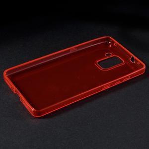 Transparentní gelový obal na telefon Honor 7 - červený - 4