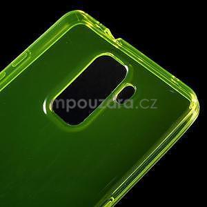 Transparentní gelový obal na telefon Honor 7 - žlutý - 4