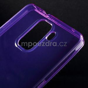 Transparentní gelový obal na telefon Honor 7 - fialový - 4