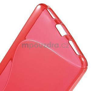Červený gelový kryt S-line na Huawei Honor 7 - 4