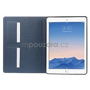 Elegant polohovatelné pouzdro na iPad Air 2 - tmavěmodré - 4