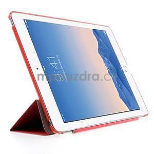 Trifold polohovatelné pouzdro na iPad Air 2 - červené - 4