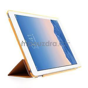 Trifold polohovatelné pouzdro na iPad Air 2 - oranžové - 4