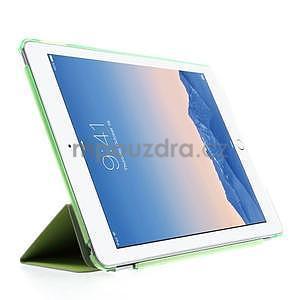 Trifold polohovatelné pouzdro na iPad Air 2 - zelené - 4