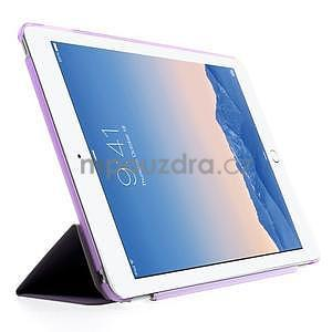 Trifold polohovatelné pouzdro na iPad Air 2 - fialové - 4