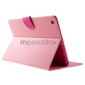 Diary peněženkové pouzdro na iPad Air - růžové - 4