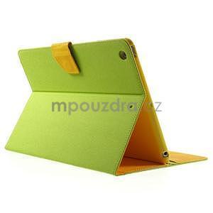 Diary peněženkové pouzdro na iPad Air - zelené - 4