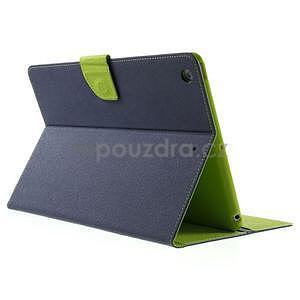 Diary peněženkové pouzdro na iPad Air - tmavěmodré - 4