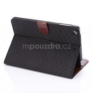 Texture luxusní pouzdro na iPad Mini 3, iPad Mini 2 a iPad Mini - černé - 4