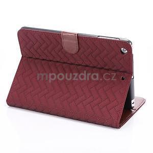 Texture luxusní pouzdro na iPad Mini 3, iPad Mini 2 a iPad Mini - vínové - 4