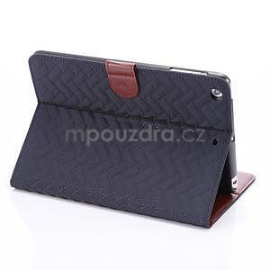 Texture luxusní pouzdro na iPad Mini 3, iPad Mini 2 a iPad Mini - modré - 4