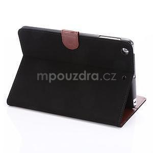 Cloth luxusní pouzdro na Ipad Mini 3, Ipad Mini 2 a Ipad Mini - černé - 4