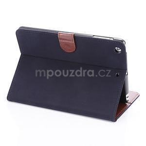 Cloth luxusní pouzdro na Ipad Mini 3, Ipad Mini 2 a Ipad Mini - tmavěmodré - 4