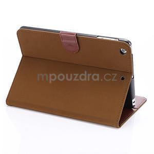 Cloth luxusní pouzdro na Ipad Mini 3, Ipad Mini 2 a Ipad Mini - hnědé - 4
