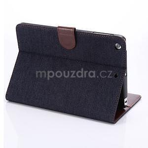 Jeans luxusní pouzdro na iPad Mini 3, iPad Mini 2 a iPad Mini - černomodré - 4