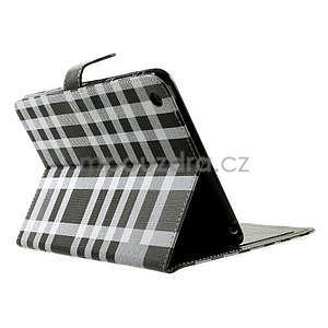 Kostkované pouzdro na Apple iPad Mini 3, iPad Mini 2 a iPad Mini - černé - 4