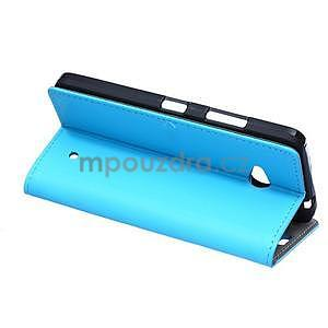 Ochranné peněženkové pouzdro Microsoft Lumia 640 - modré - 4