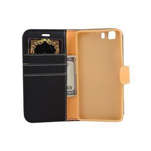 Clothy PU kožené pouzdro na mobil Doogee X5 - černé - 4