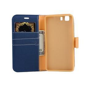 Clothy PU kožené pouzdro na mobil Doogee X5 - tmavěmodré - 4