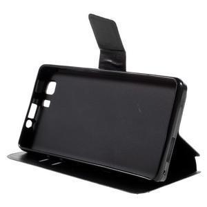 Peněženkové PU kožené pouzdro na mobil Doogee X5 - černé - 4