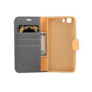Clothy PU kožené pouzdro na mobil Doogee X5 - šedé - 4