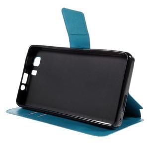Peněženkové PU kožené pouzdro na mobil Doogee X5 - modré - 4