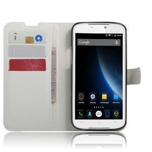 Peněženkové pouzdro na mobil Doogee X6 - bílé - 4