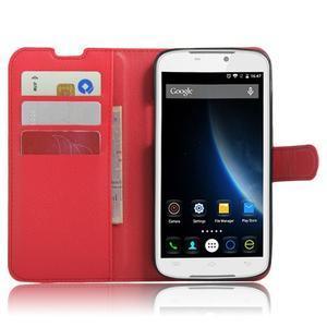Peněženkové pouzdro na mobil Doogee X6 - červené - 4