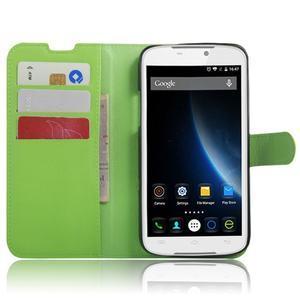 Peněženkové pouzdro na mobil Doogee X6 - zelené - 4
