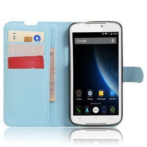 Peněženkové pouzdro na mobil Doogee X6 - světlemodré - 4