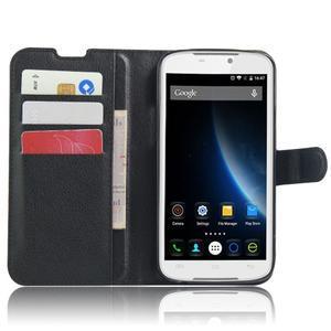 Peněženkové pouzdro na mobil Doogee X6 - černé - 4