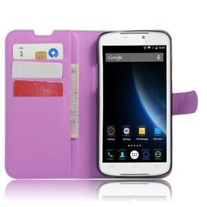 Peněženkové pouzdro na mobil Doogee X6 - fialové - 4